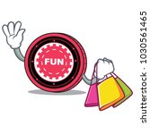 shopping funfair coin character ... | Shutterstock .eps vector #1030561465