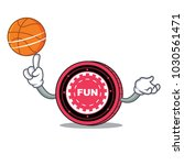 with basketball funfair coin... | Shutterstock .eps vector #1030561471