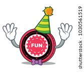 clown funfair coin mascot... | Shutterstock .eps vector #1030561519