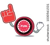 foam finger funfair coin mascot ... | Shutterstock .eps vector #1030561531