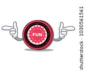 pointing finger funfair coin... | Shutterstock .eps vector #1030561561