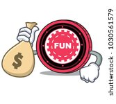 with money bag funfair coin... | Shutterstock .eps vector #1030561579