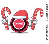 santa with candy funfair coin... | Shutterstock .eps vector #1030561585