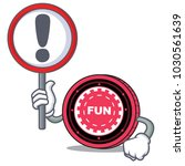 with sign funfair coin... | Shutterstock .eps vector #1030561639