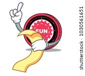 with menu funfair coin mascot... | Shutterstock .eps vector #1030561651