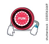 waiting funfair coin mascot... | Shutterstock .eps vector #1030561669