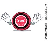mocking funfair coin mascot... | Shutterstock .eps vector #1030561675