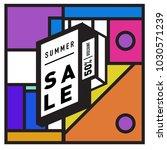 summer holiday sale memphis... | Shutterstock .eps vector #1030571239