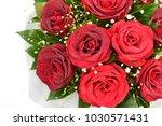 bouquet of fresh roses  flower... | Shutterstock . vector #1030571431