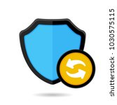 firewall protect protection... | Shutterstock .eps vector #1030575115