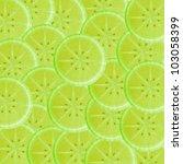 Lime slice background - stock photo