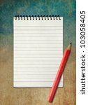 Blank notebook on sky watercolor abstract background ,Vintage style - stock photo