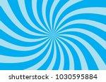 blue twirl sunburst pattern...   Shutterstock .eps vector #1030595884