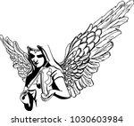vector sketch of fascinating... | Shutterstock .eps vector #1030603984