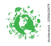 renewable energy  eco planet | Shutterstock . vector #1030610479
