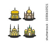mosque icon illustration | Shutterstock .eps vector #1030610521