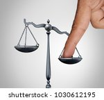 tip the scales of justice... | Shutterstock . vector #1030612195