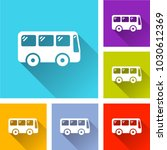 illustration of bus icons with... | Shutterstock .eps vector #1030612369