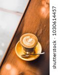 flat white coffee glass on... | Shutterstock . vector #1030614457