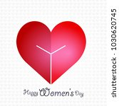 happy women's day with heart... | Shutterstock .eps vector #1030620745