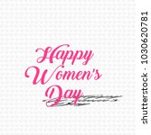 happy women's day with white... | Shutterstock .eps vector #1030620781