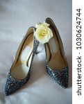 elegant bridal shoes and a rose ... | Shutterstock . vector #1030624744