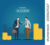 business deal success. business ... | Shutterstock .eps vector #1030625167