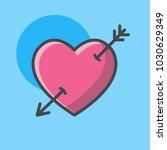 love arrow illustration vector. ... | Shutterstock .eps vector #1030629349