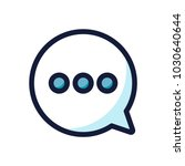 chat bubble message color line... | Shutterstock .eps vector #1030640644