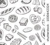 bakery seamless pattern. hand...   Shutterstock .eps vector #1030642324