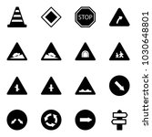 solid vector icon set   road... | Shutterstock .eps vector #1030648801