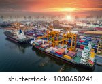 logistics and transportation of ... | Shutterstock . vector #1030650241
