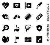 solid vector icon set   heart... | Shutterstock .eps vector #1030651321