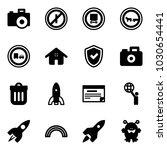 solid vector icon set   camera...   Shutterstock .eps vector #1030654441