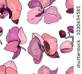 seamless pattern with pink... | Shutterstock .eps vector #1030654585