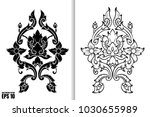 thai painting style vector... | Shutterstock .eps vector #1030655989