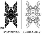 thai painting style vector... | Shutterstock .eps vector #1030656019