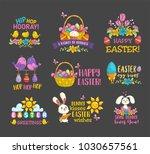 happy easter card   Shutterstock .eps vector #1030657561