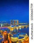 singapore cityscape at dusk....   Shutterstock . vector #1030660759