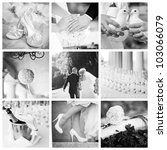 wedding collage | Shutterstock . vector #103066079