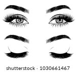 illustration of woman's sexy... | Shutterstock .eps vector #1030661467