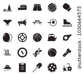 solid black vector icon set  ... | Shutterstock .eps vector #1030664575