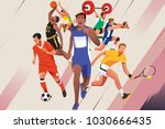 a vector illustration of... | Shutterstock .eps vector #1030666435