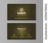 creative business card mock up | Shutterstock .eps vector #1030670041