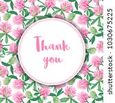 thank you card with clover... | Shutterstock .eps vector #1030675225