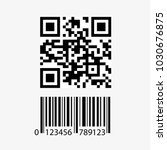 qr code and barcode icon... | Shutterstock .eps vector #1030676875