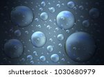 dark blue vector cover with... | Shutterstock .eps vector #1030680979