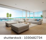 outdoor dining and sea view... | Shutterstock . vector #1030682734