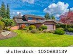big custom made luxury house... | Shutterstock . vector #1030683139