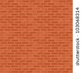 seamless brick wall background  ... | Shutterstock .eps vector #103068314